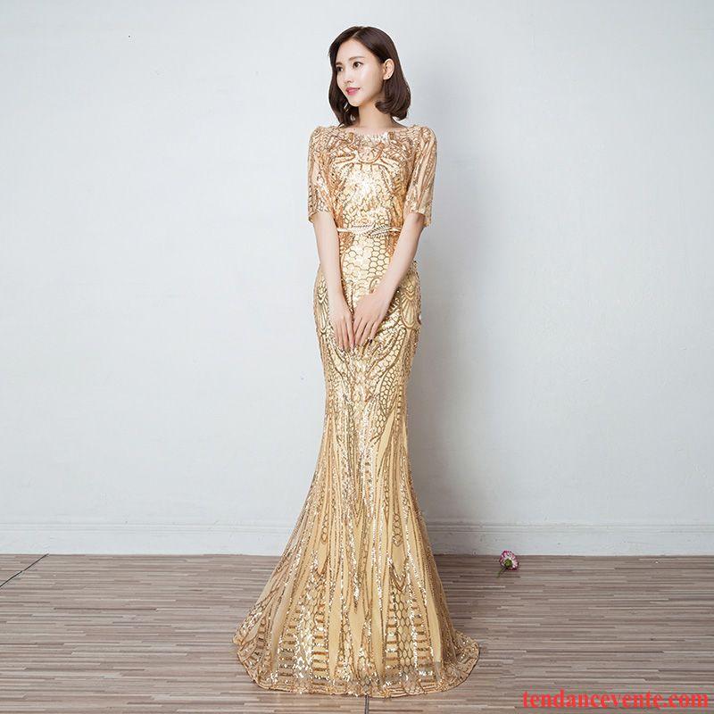 99aa1227c90 Robe Noir Et Rouge Femme Mariage Manche Mode Femme Robe Longue Queue De  Poisson Pas Cher