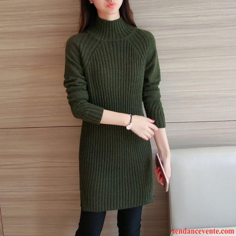 pull noir long femme l 39 automne pull chemise en bas longues pardessus blanc haut court robe hiver. Black Bedroom Furniture Sets. Home Design Ideas