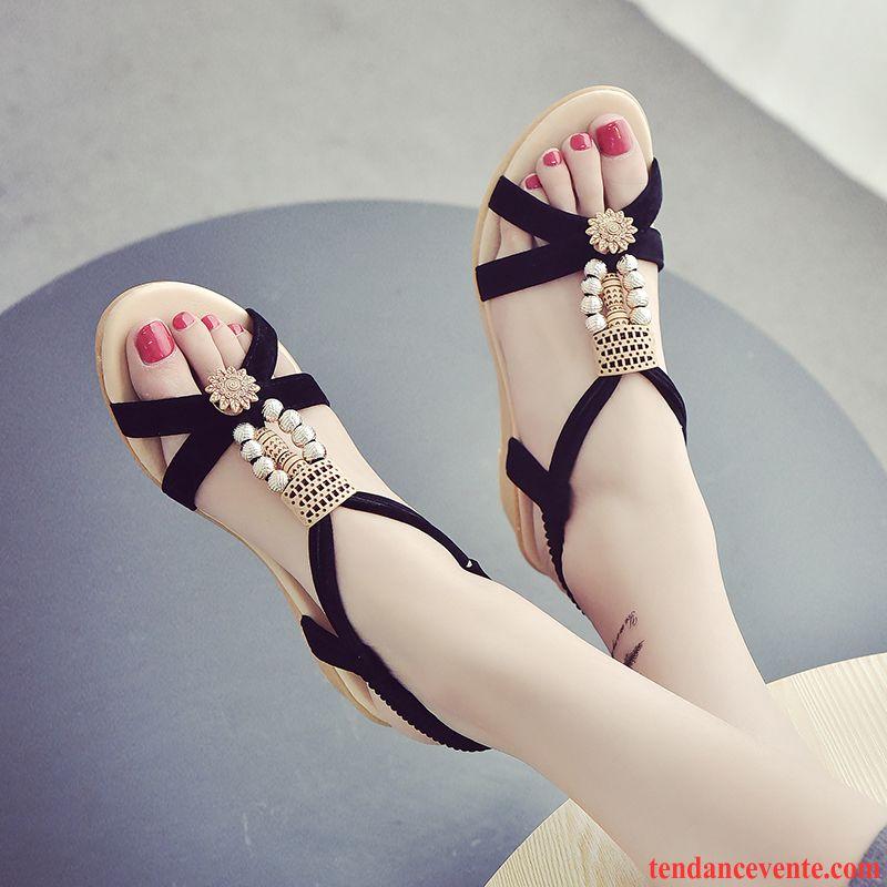 Classe Beige Décontractée Flats Sandales Femme Confortable Été SzMpUV