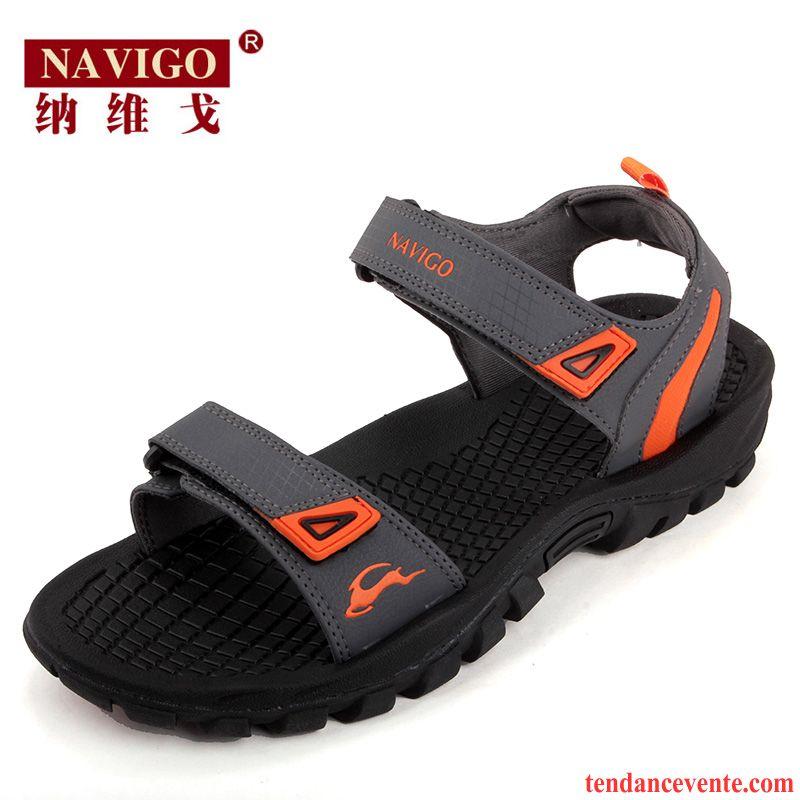 Hommes épais Tendance Mode Semelle antidérapante Chaussures de sport respirant Chaussures de plage czeSEKZEe