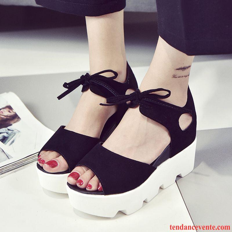 De Chaussure Sandales Marque Tendance Tous Assortis Les Plates 5Rq34jLA
