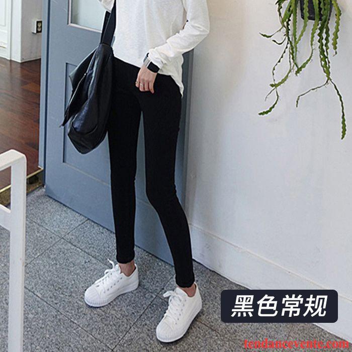22a86a38f7a98 Slim Femme Taille Haute Slim Noir Hiver Mince Étudiant Pantalon Extensible  Pantalons Crayon Femme Plus De ...