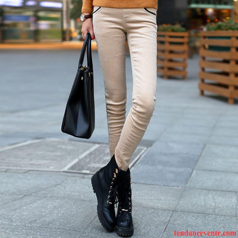 Tailleur Pantalon Femme Blanc Hiver Plus De Velours Violet Renforcé Chauds Femme Velours Côtelé Bronzer