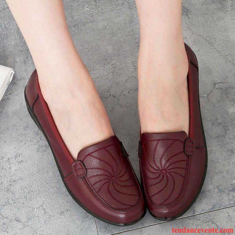 en soldes e202b 17508 Vente Chaussure Femme Printemps Cuir Véritable L'automne ...