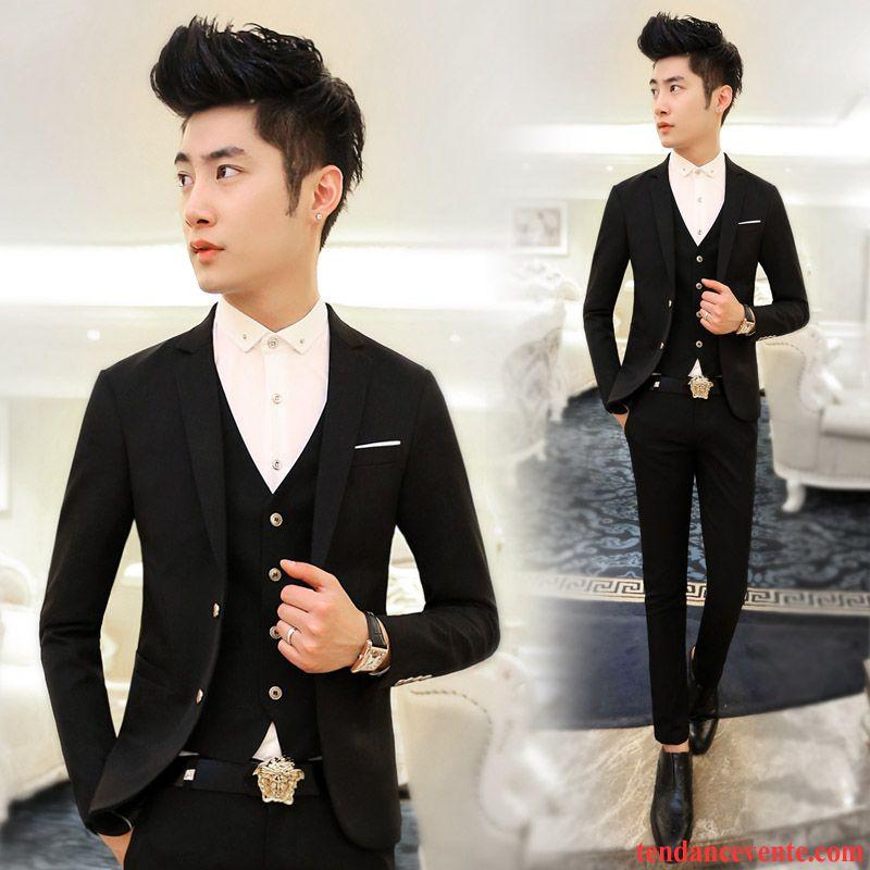 veste costume homme avec jean professionnel mariage ensemble blazer homme slim bleu noir pas cher. Black Bedroom Furniture Sets. Home Design Ideas