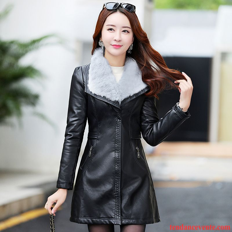 veste cuir d hiver femme les vestes la mode sont populaires partout dans le monde. Black Bedroom Furniture Sets. Home Design Ideas